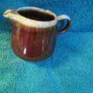 McCoy Pottery USA Creamer Pitcher  Brown Drip Finish 7020