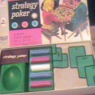 Vintage 1967 Strategy Poker Milton Bradley Springfield Mass USA 4960 Great Game
