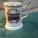 Mustache Mug Ceramic Conestoga Wagon About 1800 Shaving Mug Gold Trim Japan