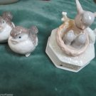 Otagiri Porcelain Music Box Id Like To Teach The World To Sing and 2 Birds