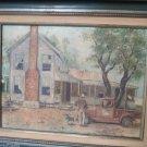 Oklahoma Artist KonittaJo Patterson Painting 1983 At Home In Oklahoma Original