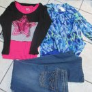 4 Justice Girl Tops One NWT Long Sleeve Jean Jacket W Mudd Limited 2 Jeans Sz 16