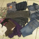 Lot Justice Limited Two Bubblegum Banana Rep Old Navy Tops Pants Jeans  sz 10