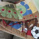 Cute Boys Lambs Ivy Standard Crib Bumper Sheet Team Safari Sports Jungle Animals