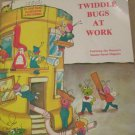 Vintage Muppets Twiddle Bugs At Work Book and Record 33 1/3 RPM 1981 Nice