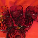 Six Heisey Glass Whirlpool Imperial Provincial Footed Water Goblet Tumbler Amber