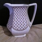 Vintage Wm Adams Sons Backstamp England Ironstone Sharon Water Pitcher