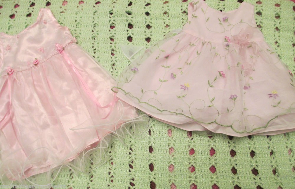 Girls 6 mos Two Beautiful Wedding Fancy Party Dresses Bonnie Baby JoJo Designs