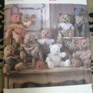 Simplicity Crafts Ptn 9894 Stuffed Victorian Style Decorative Bears 1990 Uncut