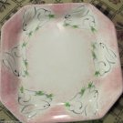 Present Tense Childs Dinner Plate Bunnies Hand Painted By Anne Hathaway Decor