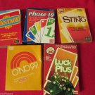 Six Vintage Card Games 1980s Luck Plus Sting Caught Cha Vantage Uno Phase 10