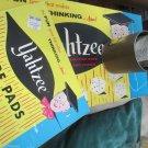 Vintage 1956 Yahtzee Classic ES.Lowe Game Instructions New Box Score Sheets Plus