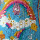 Handmade Care Bears Rainbow Trail Quilt Bright Multi Colors Cranston Pattern