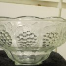Vintage Punch Bowl Only EUC Pattern Three Grape Panels Two Grape Leaf Panels