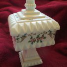 Vintage Westmoreland Hand Painted Milk Glass Wedding Bowl