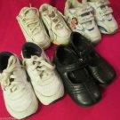 Three Pairs GirlsToddler Sz 5 Tennis Shoes Dora  Nike One Pair Black Dress Shoes