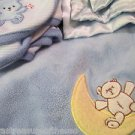 Blue Expectations Baby Martex Bear Moon Bright Future Bear And Security Blankets