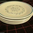 Four Lenox Blue Breeze Temper Ware Blue Floral Bread Butter Plates USA