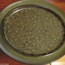Vintage Franciscan Madeira Large Oval  Platter Earthenware Tan Flowers on Brown