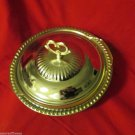 Vintage Fire King Anchor Hocking Baking Metal Lid w Metal Casserole Base