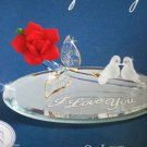 Glass Baron Collection Doves of Love Swarovski Crystal Handcrafted Glass NIB
