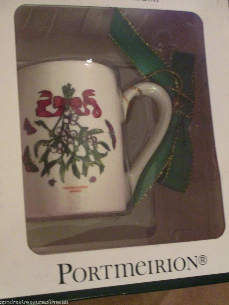 Portmeirion Botanic Garden Coffee Cup Viscum Album Christmas Ornament NIB