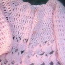 Vintage Hand Made Knitted Baby Pink Sweater Shell Design