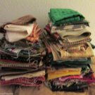 Fabric Lot Strips Pieces Ten lbs Cotton Quilt Quilting Fabric Balls Crafts
