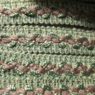11 yds PLUS Jacquard Trim Mauve Spring Green Craft Pillow Drapery Finish Project