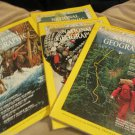 Lot Four National Geographic Magazine 1971 January February March April June