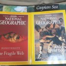 Two National Geographic Magazine May Feb 1999 Wild Dogs Biodiversity W  Maps