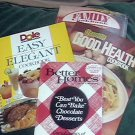 Vintage Dole Easy to Elegant Better Homes Chocolate  Creamette Kraft Cookbooks
