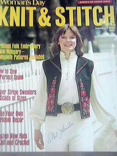 Vintage Womans Day Knitting Books Service Series  Knit Stitch 1971 1972