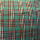 Cotton Green Red Plaid Make Quilt Napkins Shower Curtain Projects
