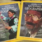 Two National Geographic Magazine 1980 Feb March Tibet China Greece Africa Map