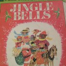 Vintage Jingle Bells 255 Disney Little Golden Read Along Book and Record Set