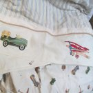 Transportation and Sports Dust Ruffle Crib Skirt and Matching Sheet Nice Neutral