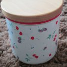 Vintage Rare Japan  Berries Jubilee Design Ceramic Sm Canister Valentines Gift