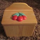 Vintage Rare Korea Berries Jubilee Design Wood  Recipe Box Valentines Wedding