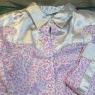 Fancy Girls Wrangler Satin Trim Bling Pink Western Print Show Shirt XL Size 12