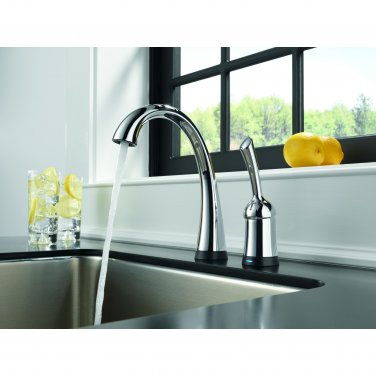 Delta 1980T-DST Pilar Single Handle Bar/Prep Faucet with Touch2O and Diamond Seal Technology