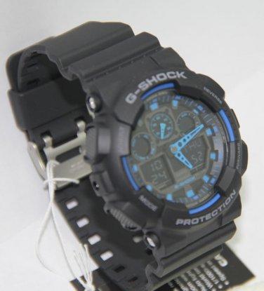Casio G Shock Alarm Chronograph GA 100 1A2 Men Sport Watch 100% Original