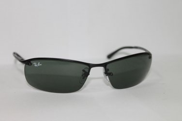 Ray-Ban Sunglasses RB 3183 006/71 63/15 Black / Grey-Green Lenses 100% Original