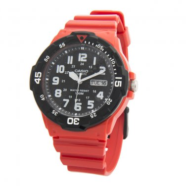 Casio Watch MRW200HC 4BV Men Sport Watch Red Analog Date 100% New & Original