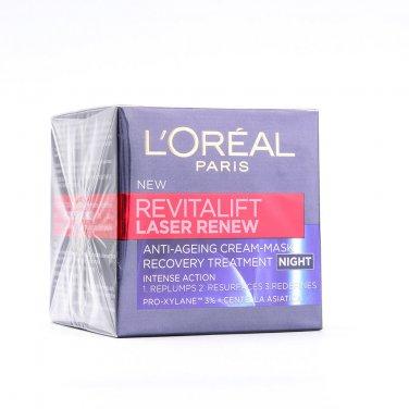 L'Oreal Revitalift Laser Night Cream Renew Anti-Ageing Cream-Mask 100%Original