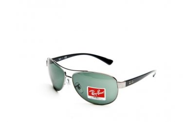 Ray Ban Sunglasses 3386 004/71 63/13 Silver Large Grey-Green New 100% Original