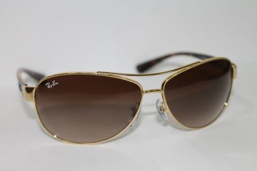 Ray Ban Rb3386 001/13 63-13 63mm Gold Tortoise Brown Gradient Men's New & 100% Original