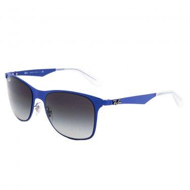 Ray-Ban Sunglasses 3521 161/8G  Matte Blue/ Gradient Gray 100% New & Original