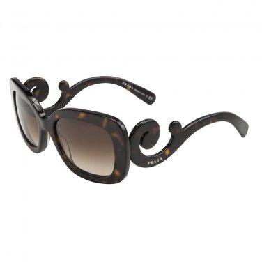 Prada Sunglasses PR 27OS 2AU6S1 Minimal Baroque Havana Gradient 100% Original