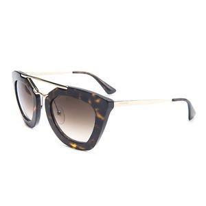 Prada Sunglasses 09QS 2AU6S1 Cat Eye Cinema Havana Brown New Original